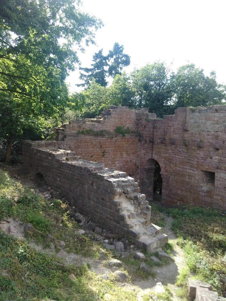 Foundation of the third ruined castle at Eguisheim