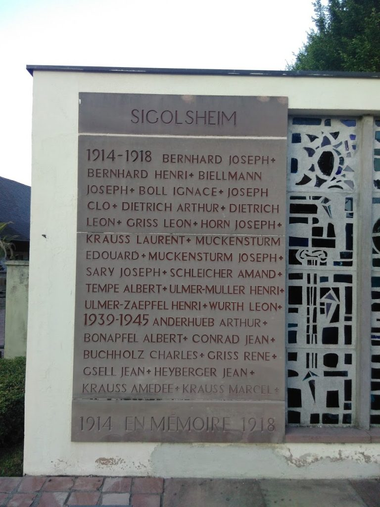 Sigholsheim War Memorial 1