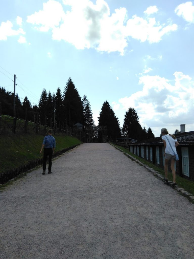 Walking towards the gate - KL-Natzweiler (Struthof) concentration camp