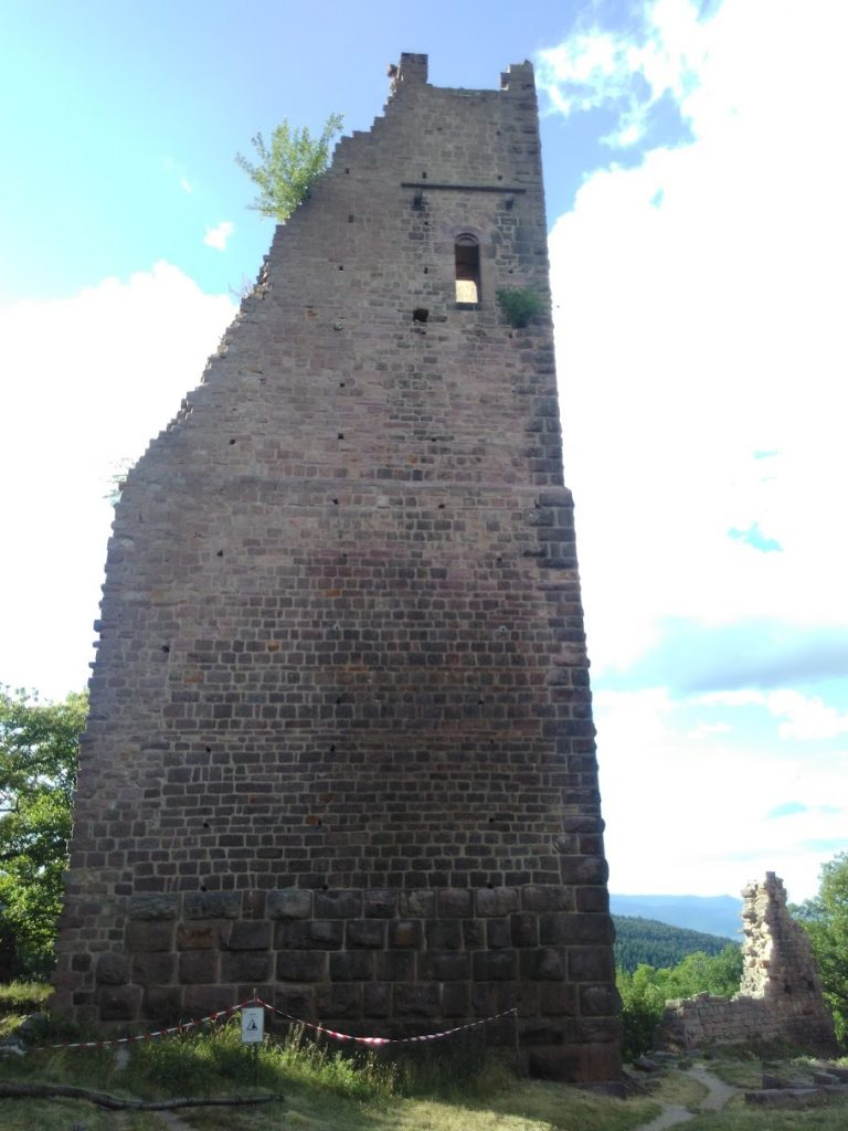 One of the towers of the second of the three Eguisheim castles