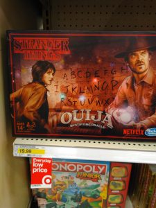 "Ouija Board for sale at Target - ""Stranger Things"" edition"